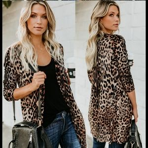 Sweaters - Coming soon! Lightweight leopard print cardigan